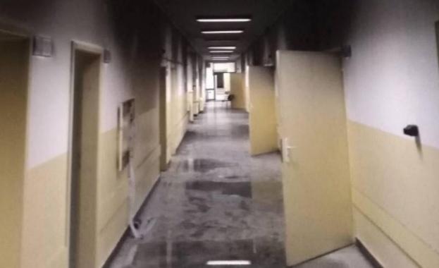 Работник със 70% изгаряния е приет в болница