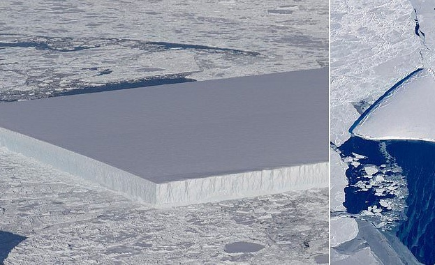 Най-големият айсберг в света - А68, който се откъсна от