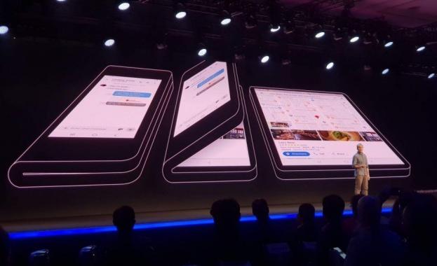 Samsung обяви първото си устройство със сгъваем дисплей