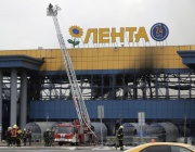Голям пожар в хипермаркет в Санкт Петербург, двама пострадали