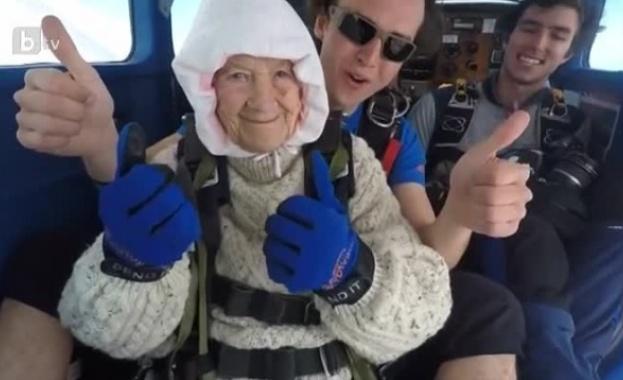 102-годишна австралийка скочи с парашут