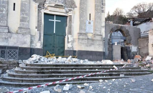 Около 30 души са леко пострадали при земетресението в Сицилия