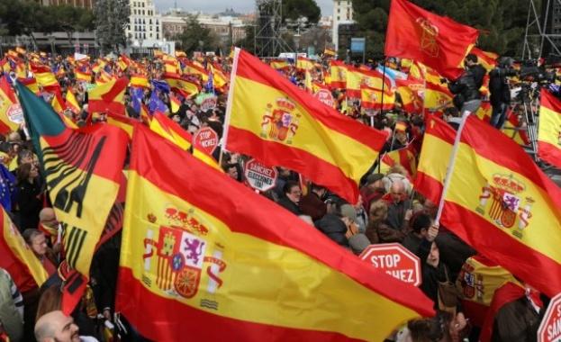 Стотици хиляди хора излязоха в различни градове от испанската провинция