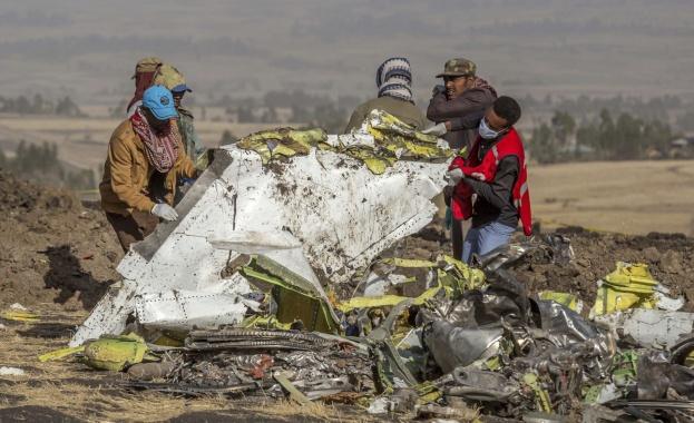 Изпращат във Франция черните кутии на разбилия се в Етиопия самолет