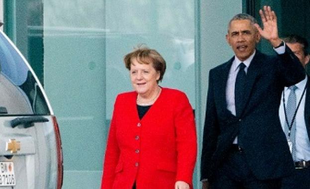 Настоящият канцлер на Германия Ангела Меркел и бившият президент на