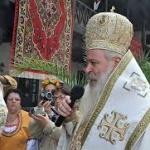Епископ Сионий получава жезъла на Бачковския манастир