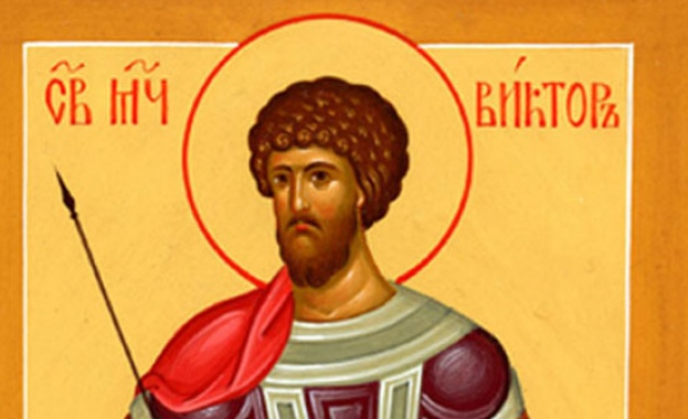 Св. мъченик Виктор бил войник по време на царстването на