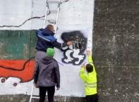 Възраждане възстанови патриотичен графит край Търново