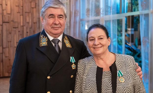 Станка Шопова с Орден на дружбата в Деня на Русия