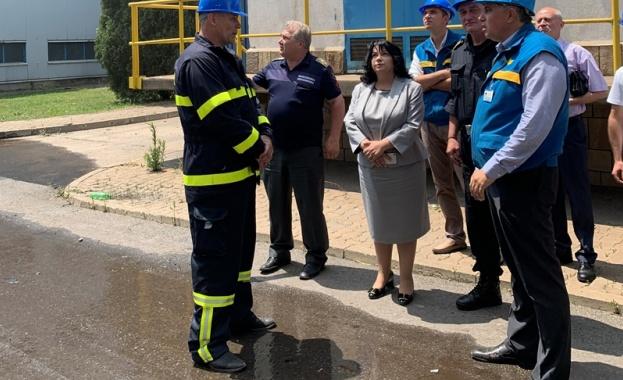 """Пожарът, който възникна тази сутрин в ТЕЦ """"Марица-изток 2"""