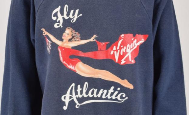 """Суичър с логото на """"Върджин Атлантик"""