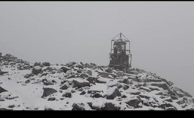 Сняг падна на връх Мусала през юли. Това стана ясно