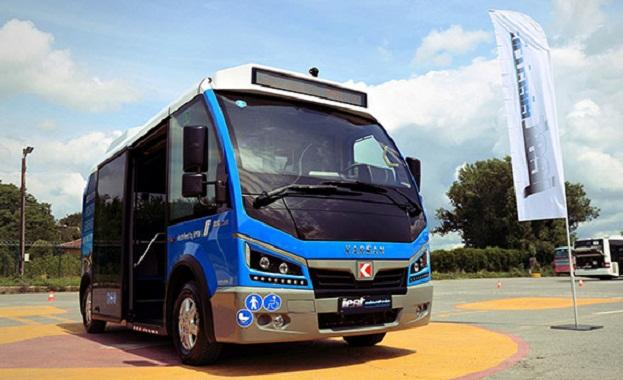 Снимка: Тестват електробус, който ще превозва пътници до метрото