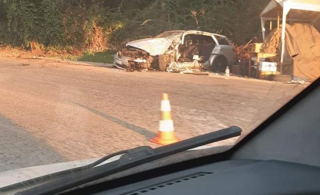 Снимка: Катастрофа задръсти пътя Плевен – Долни Дъбник