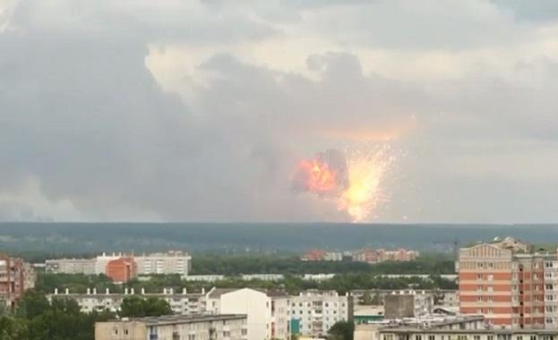 Петима ранени след взривове в склад за боеприпаси в Красноярски край