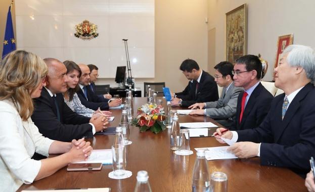 Борисов на среща с японския външен министър: Япония е приоритетен партньор