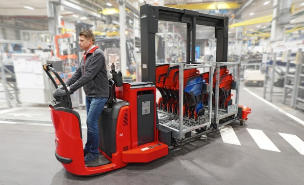 Транспортни платформи с ново решение за транспортиране на стоки в склада