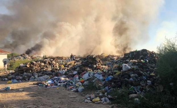 Снимка: Сметището край Карлово се е запалило тази сутрин