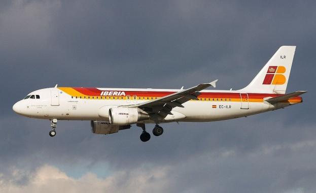 Испанската авиокомпания Иберия (Iberia) реши да отмени 104 полета заради