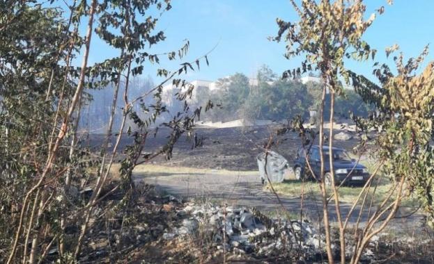 Снимка: Пожари в Старозагорско. Изгоря училище, евакуираха дом за социални грижи