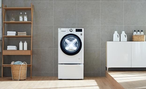 LG разширява дистрибуцията на перални машини с изкуствен интелект и Direct Drive в Европа