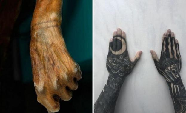 Археолози откриха скелет с лечебни татуировки