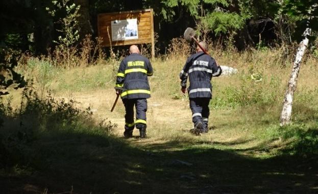 Пожар пламна днес в района на Сухото езеро над Кирилова