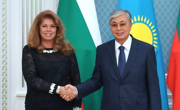 Илияна Йотова и президентът Касим-Жомарт Токаев обсъдиха изучаването на български език и развитието на българската общност в Казахстан