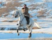 Ким Чен Ун изкачи на бял кон планината Пекту (СНИМКИ)