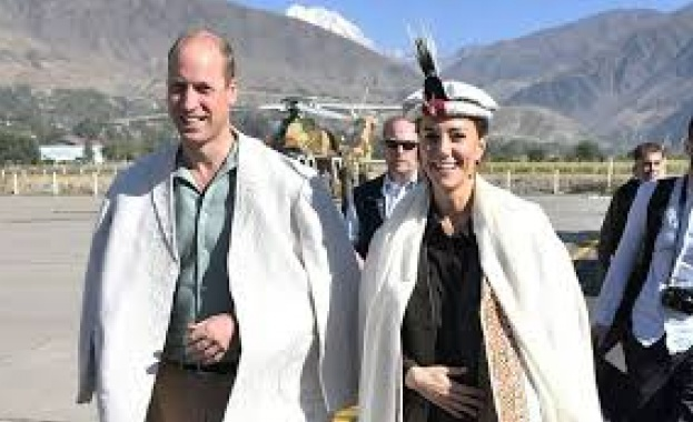 Херцогинята на Кембридж и съпругът ѝ принц Уилям продължават пакистанската