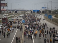Сцени на своеобразна партизанска градска война в Барселона