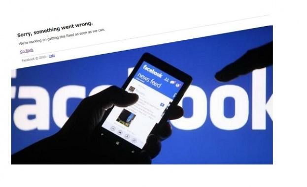 Най-голямата социална мрежа в света - Facebook, се срина, като