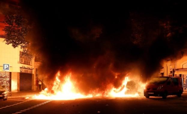 Снощното насилие по време на протестите в Барселона прерасна в