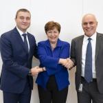 Министър Владислав Горанов се срещна с управляващия директор на МВФ Кристалина Георгиева