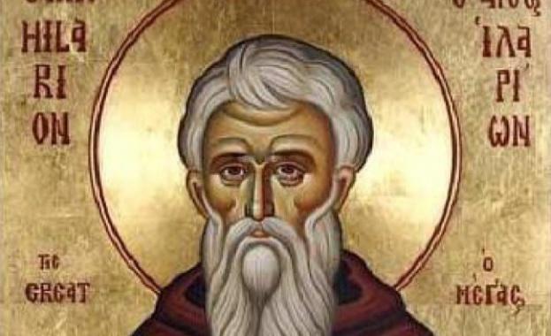 Преподобни Иларион Велики живял в годините 291–372. Родил се в