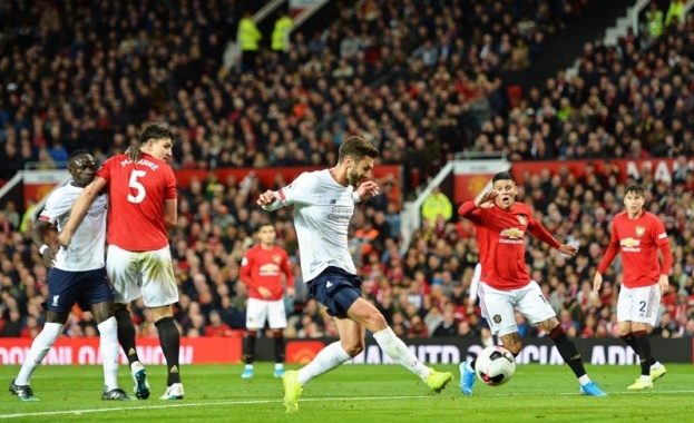 Манчестър Юнайтед и Ливърпул завършиха 1:1 в дербито от 9-я