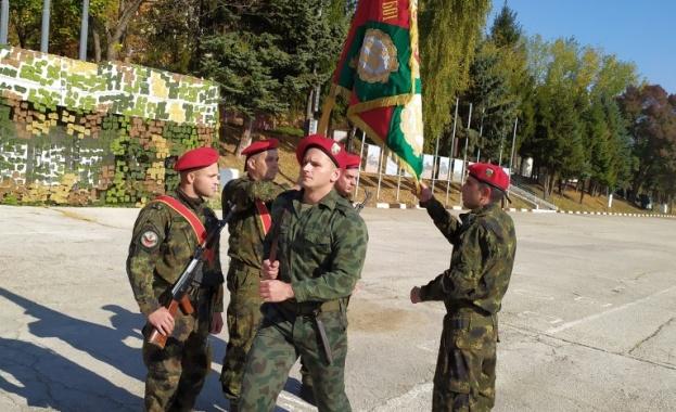 Ритуал по полагане на военна клетва от 16 български граждани,
