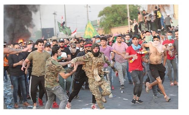 Иракските сили стреляха по протестиращи, има убити и ранени (Видео) (Снимки)
