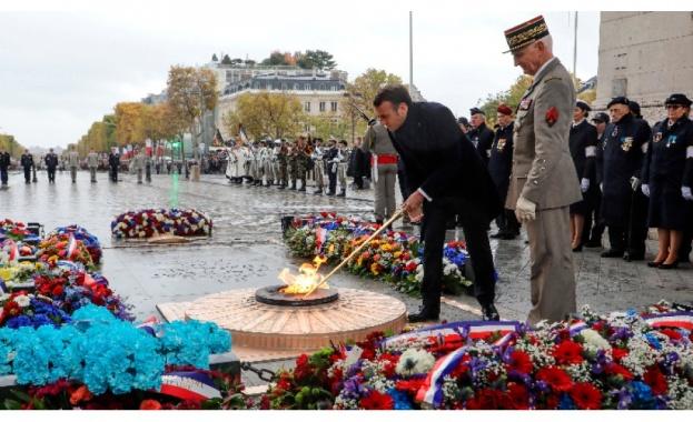 Президентът на Франция Еманюел Макрон почете Деня за възпоменание, като
