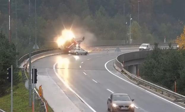 Ужасяваща катастрофа е станала на околовръстното шосе на словенската столица