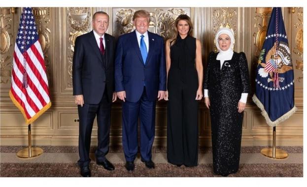 Турският президент Реджеп Тайип Ердоган и съпругата му пристигнаха снощи