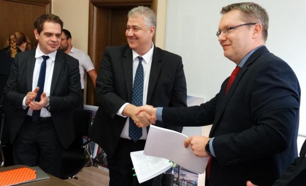 Днес се подписа проект между ЧЕЗ България Инвестмънт (CBI) и
