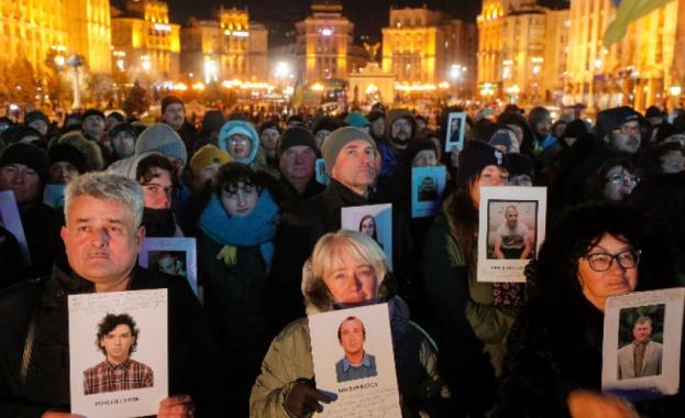 Хиляди украинци протестираха снощи в центъра на Киев срещу сближаването