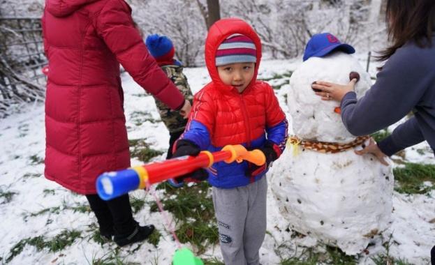 Първи сняг в Пекин за тази зима, съобщава БГНЕС. Снеговалежът
