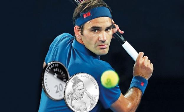 Швейцария пуска монета от 20 франка с лика на Роджър Федерер