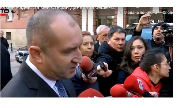 Румен Радев: Стефан Данаилов беше човешкото лице на българската политика