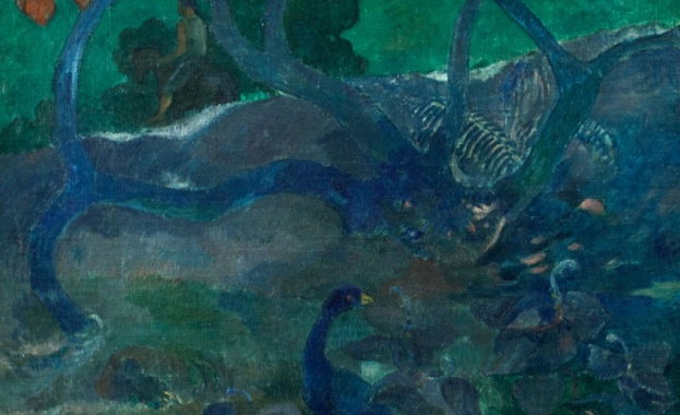 Рядка картина на Пол Гоген от таитянския му период -