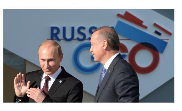 Президентите на Турция и Русия - Реджеп Тайип Ердоган и