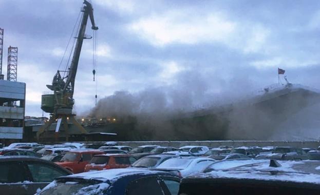 """Потушен е пожарът, който избухна вчера на борда на """"Адмирал"""