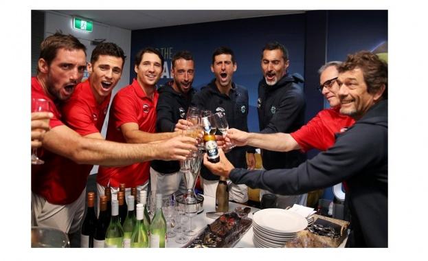Шампионите на ATP Cup - отборът на Сърбия, намериха време